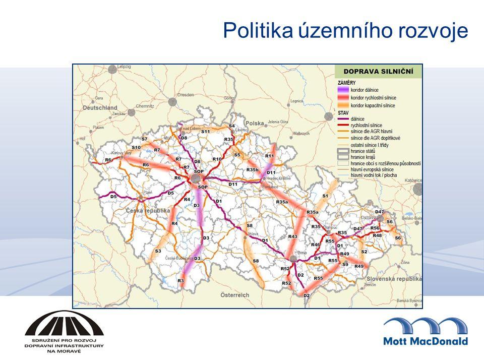 Železniční doprava Koridor vysokorychlostní železniční dopravy (VR 1), jenž zahrnuje trasu v úseku Brno – Ostrava – hranice ČR/ Polsko.