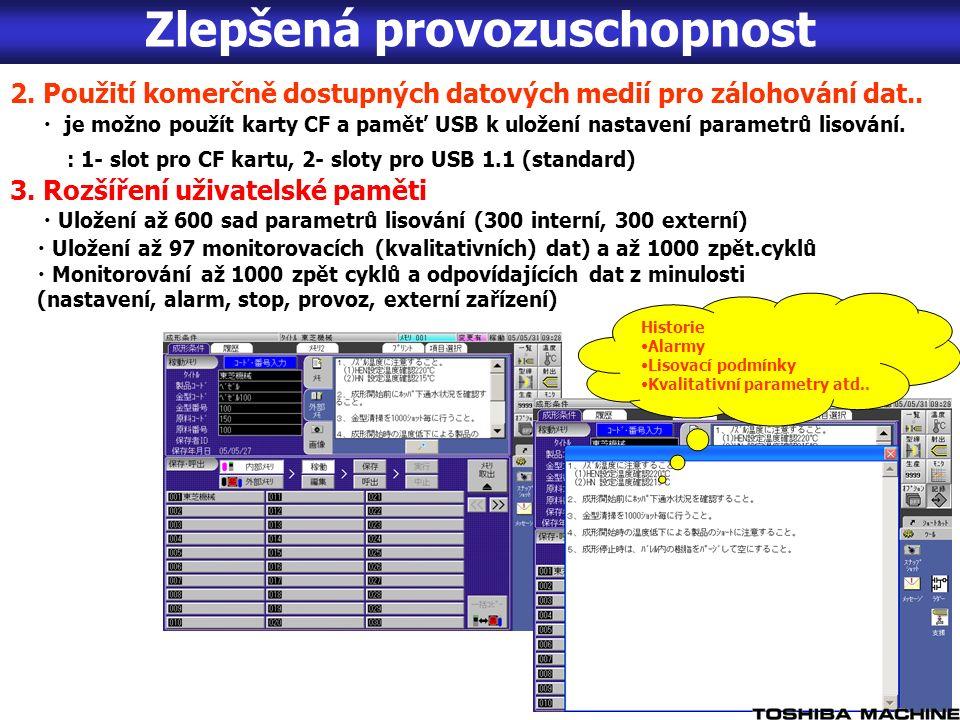 2. Použití komerčně dostupných datových medií pro zálohování dat..