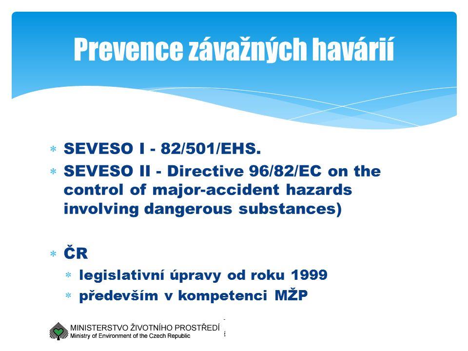  SEVESO I - 82/501/EHS.