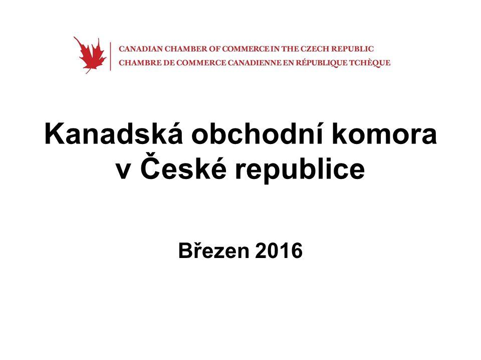 Historie První Česko-kanadská obchodní komora založena v Torontu v 1.