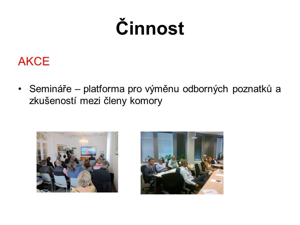 Činnost AKCE Semináře – platforma pro výměnu odborných poznatků a zkušeností mezi členy komory