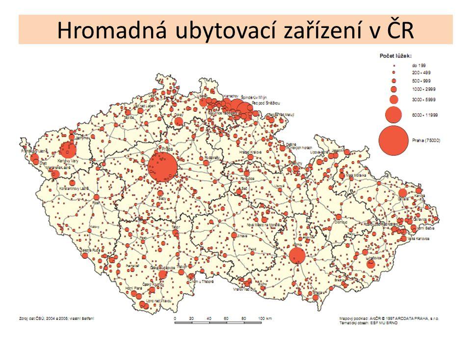 Hromadná ubytovací zařízení v ČR