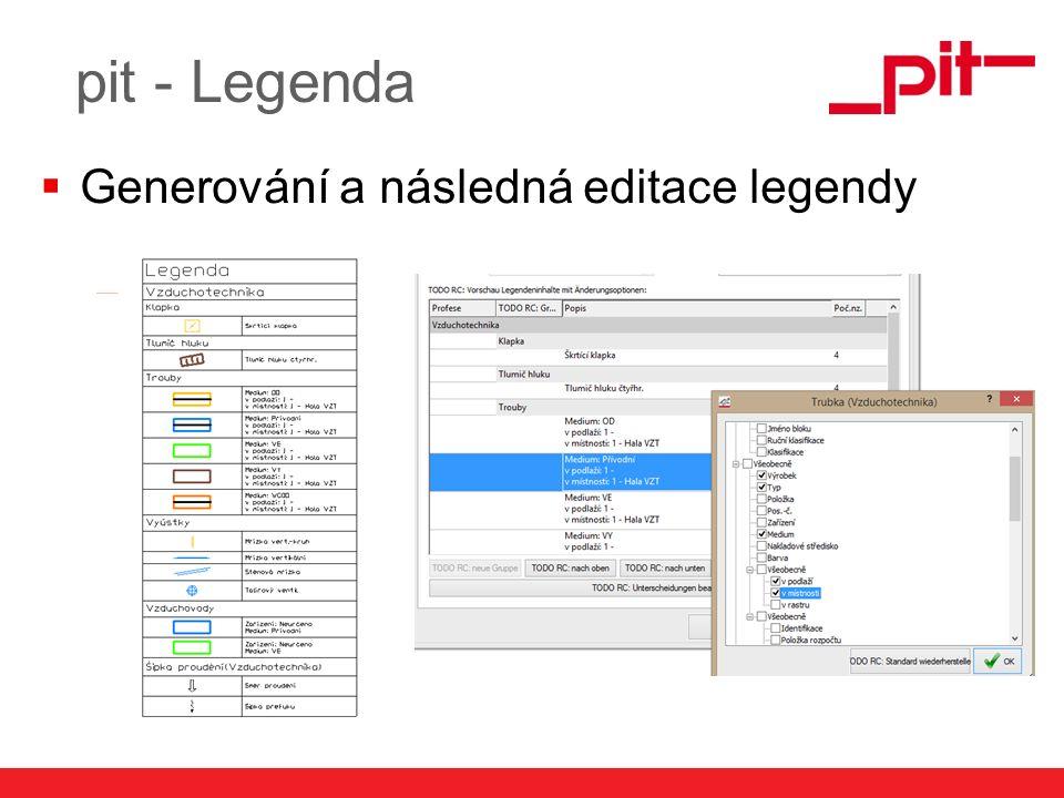 www.pit.de pit - Legenda  Generování a následná editace legendy
