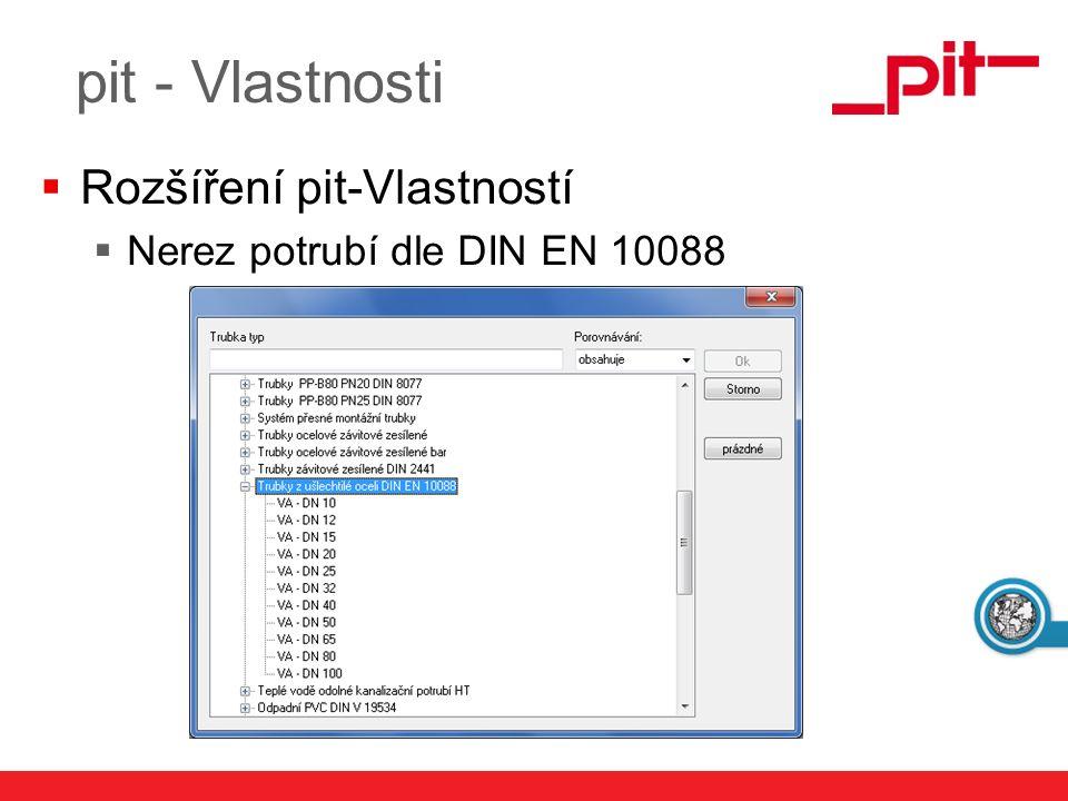 www.pit.de  Klasifikace cizích objektů vyhledáním nebo ukázáním pit - Vlastnosti