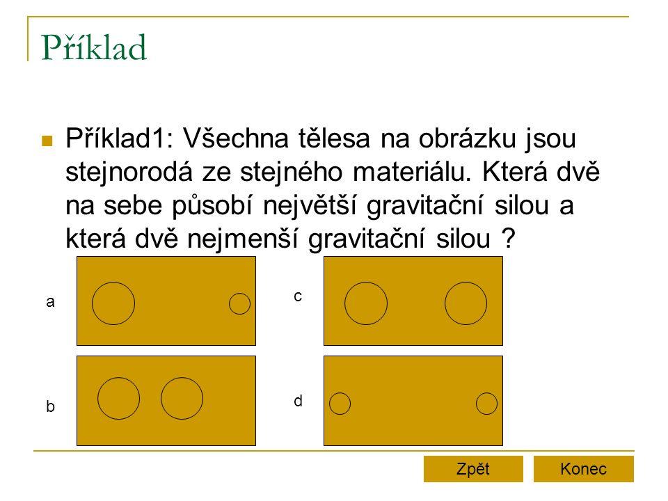 Příklad Příklad1: Všechna tělesa na obrázku jsou stejnorodá ze stejného materiálu.