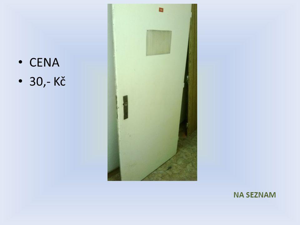 Položka číslo 14 Dveře č. 14 Bílé voštinové 800 x 1970 Pravé CENA 30,- Kč