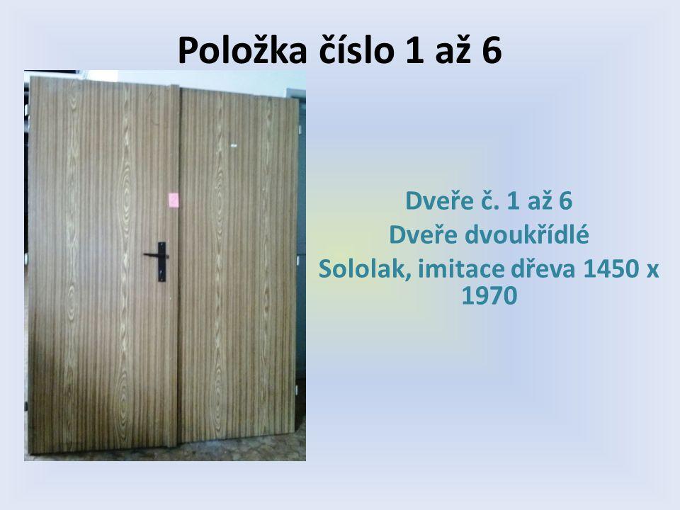 Položka číslo 11 Dveře č. 11 Bílé voštinové Levé 800 x 1970 1/3 prosklené