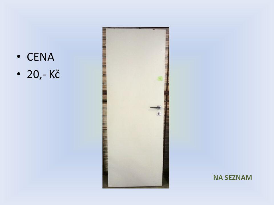 Položka číslo 16 Dveře č. 16 Bílé voštinové 600 x 1970 Levé CENA 20,- Kč