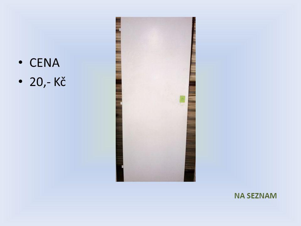 Položka číslo 17 Dveře č. 17 Bílé voštinové 600 x 1970 Levé MEZIPOKOJOVÉ CENA 20,- Kč