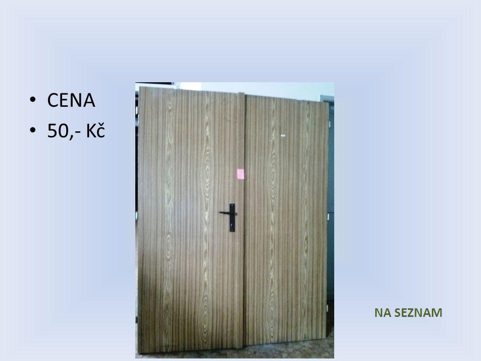 Položka číslo 1 až 6 Dveře č. 1 až 6 Dveře dvoukřídlé Sololak, imitace dřeva 1450 x 1970