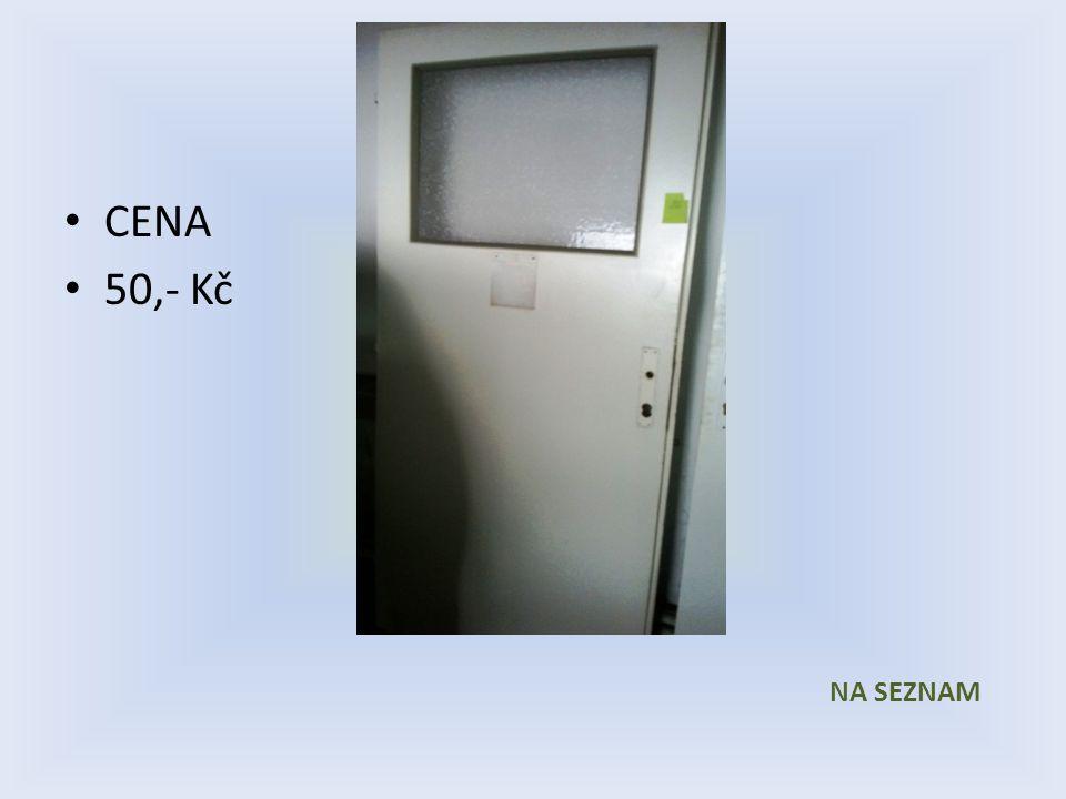 Položka číslo 26 Dveře č. 26 Bílé voštinové Pravé 800 x 1970 1/3 prosklené CENA 50,- Kč
