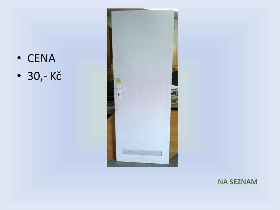 Položka číslo 29 Dveře č. 29 Bílé voštinové 600 x 1970 Pravé CENA 30,- Kč