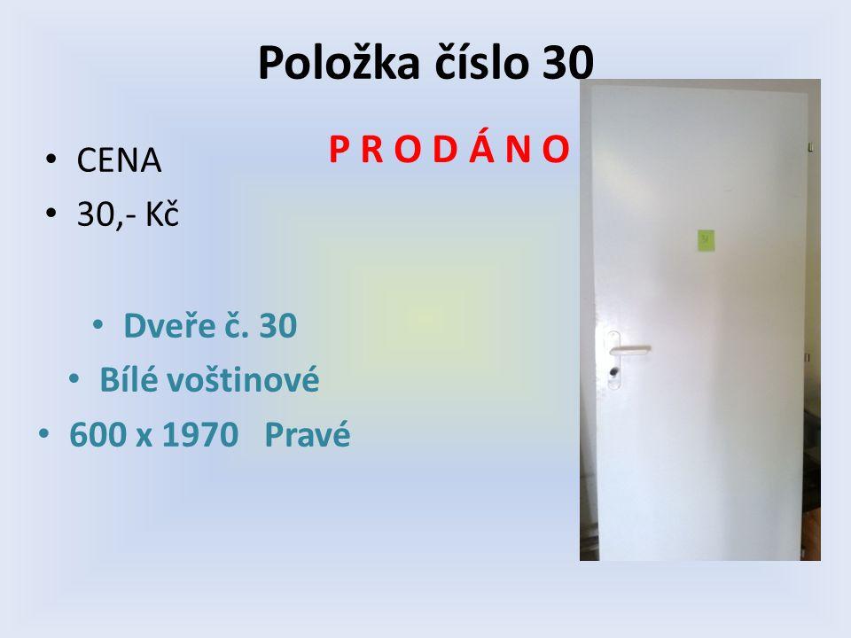 CENA 30,- Kč NA SEZNAM