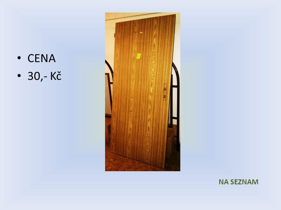 Položka číslo 30 Dveře č. 30 Bílé voštinové 600 x 1970 Pravé CENA 30,- Kč P R O D Á N O