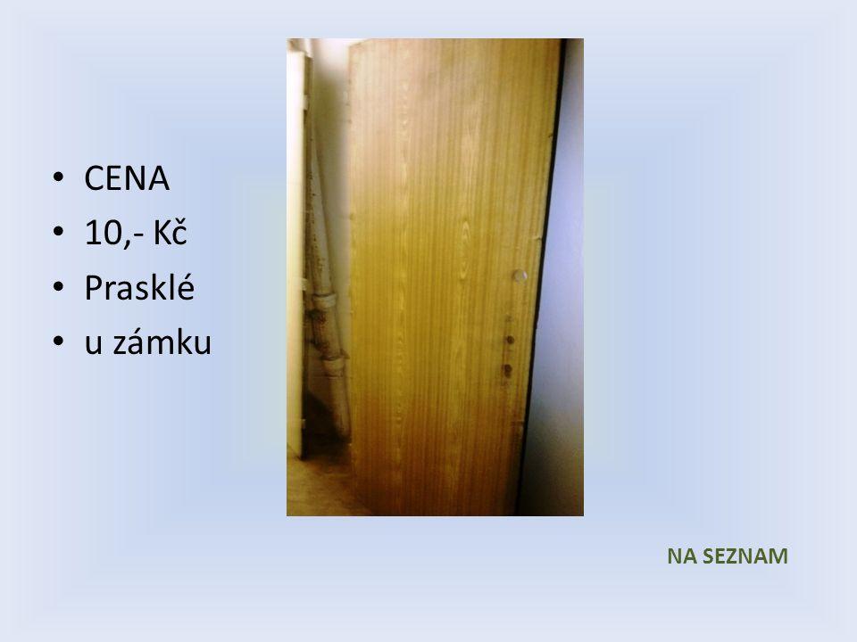CENA 10,- Kč Prasklé u zámku NA SEZNAM