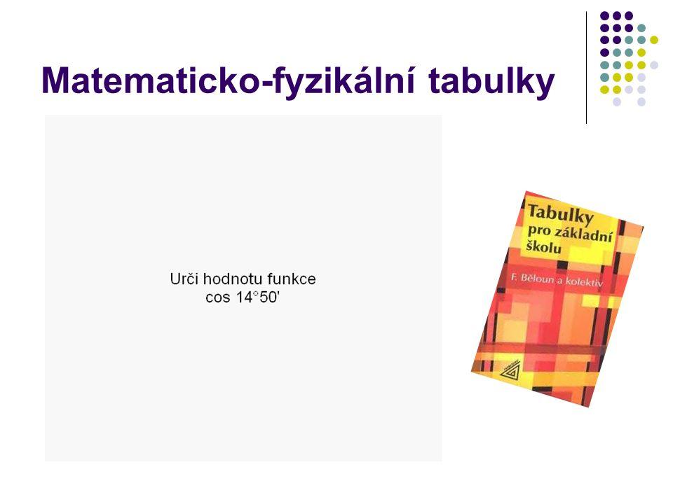 Matematicko-fyzikální tabulky