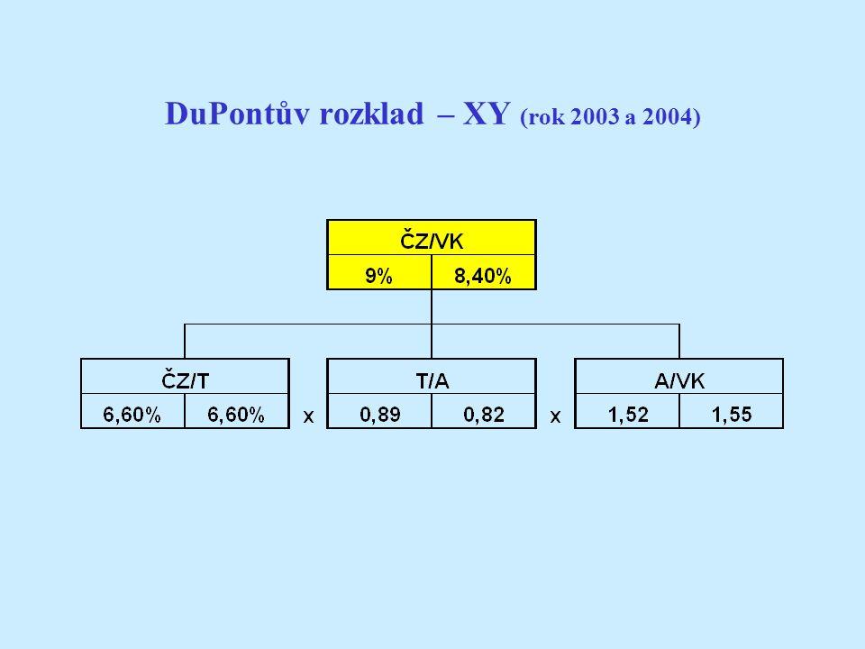DuPontův rozklad – XY (rok 2003 a 2004)