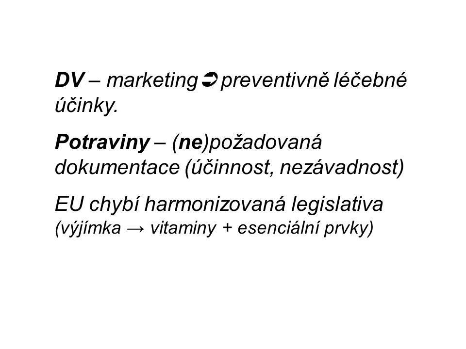 DV – marketing  preventivně léčebné účinky.