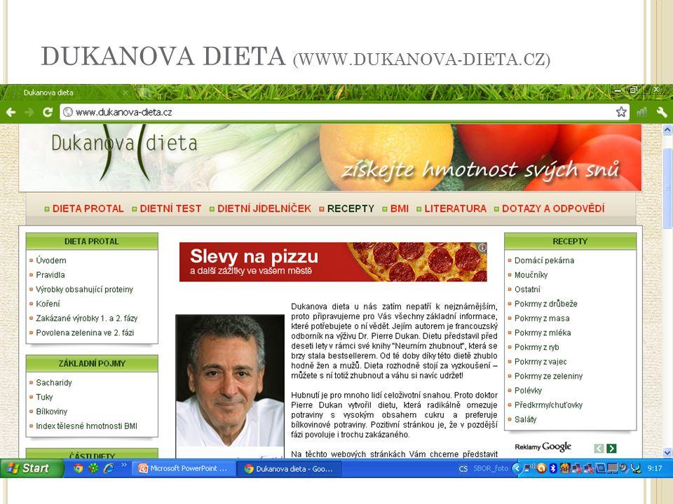 DUKANOVA DIETA (WWW.DUKANOVA-DIETA.CZ)