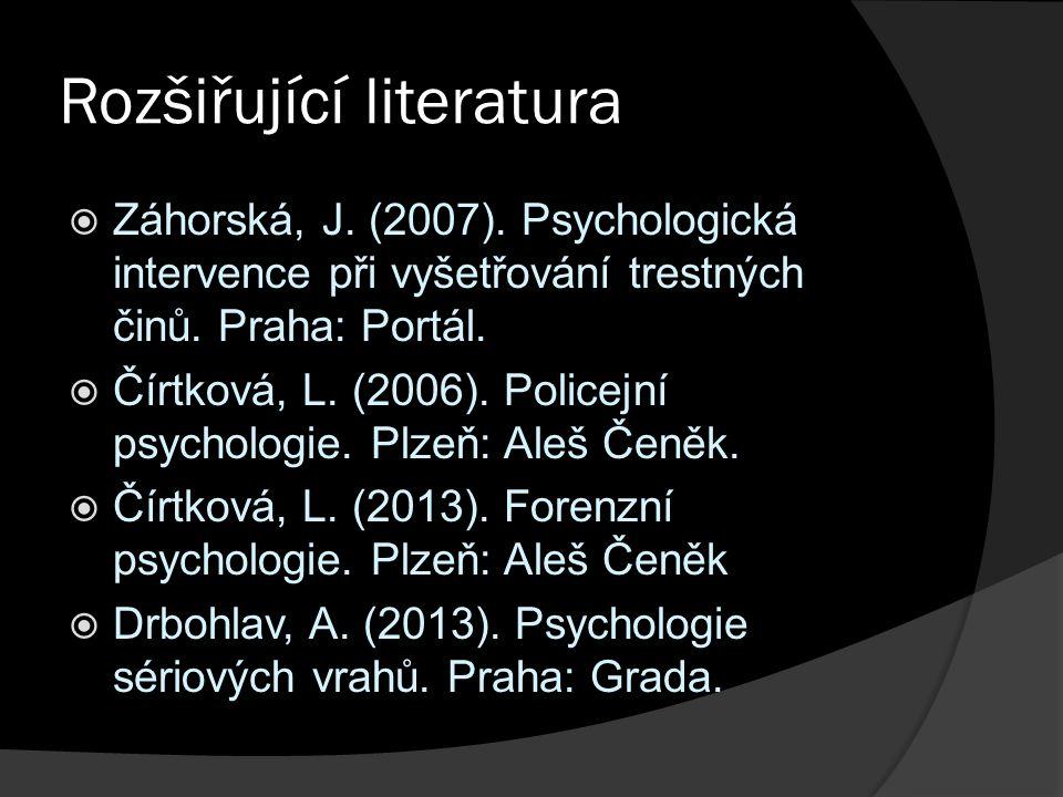 Rozšiřující literatura  Záhorská, J. (2007).