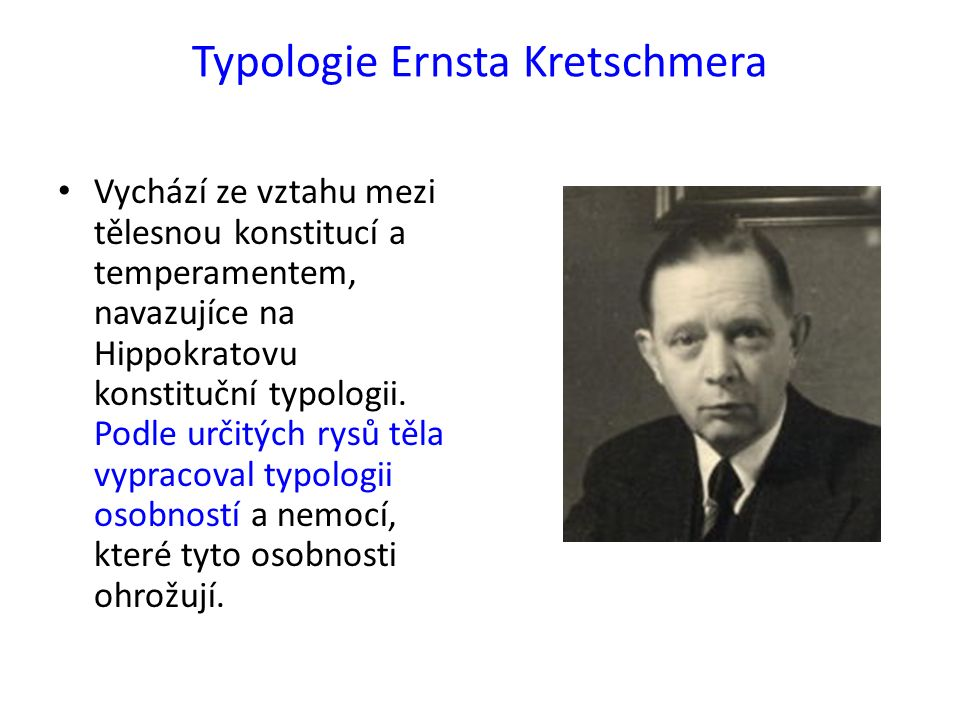 Konstituční typologie podle E.K.