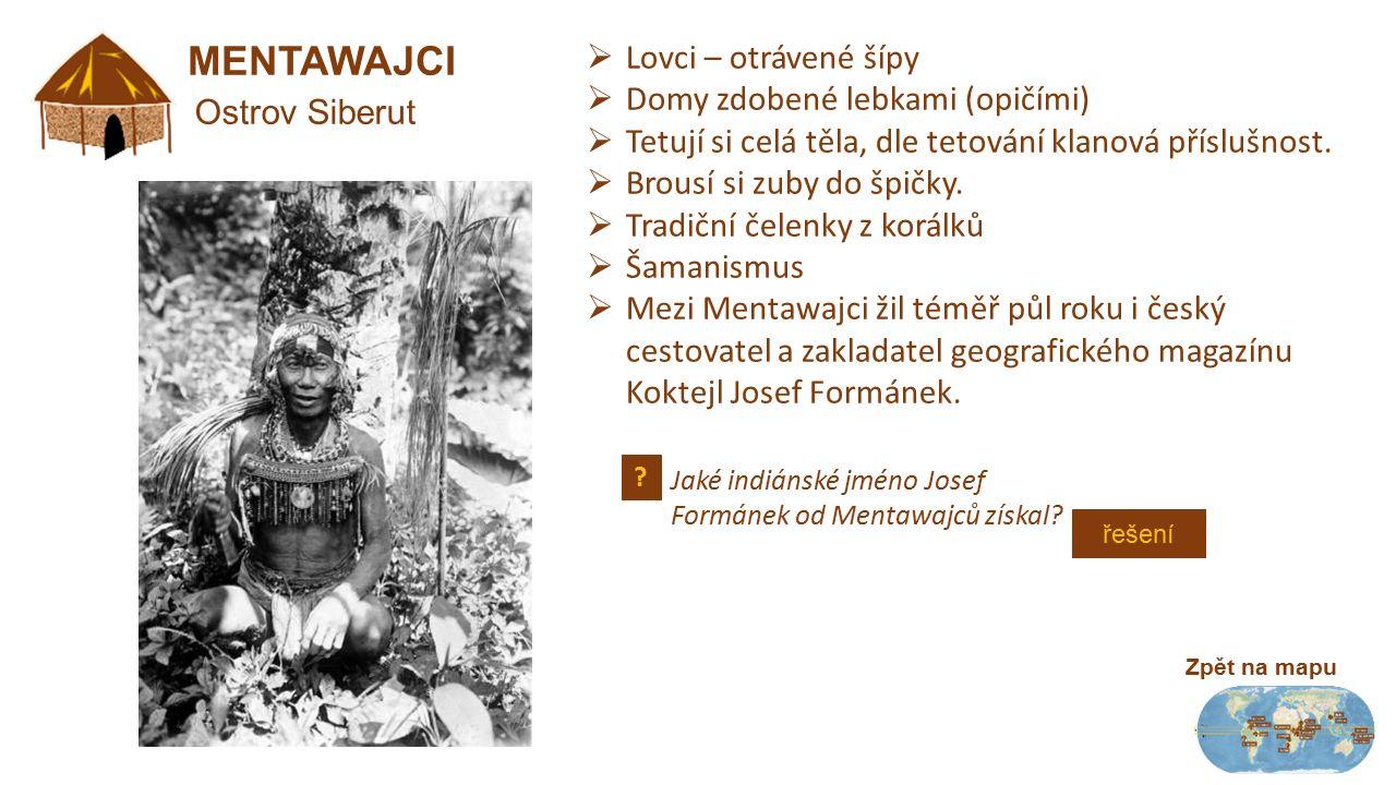 """KOMBAJOVÉ Zpět na mapu Západní Papua  Stromoví lidé  Muži – oděni jen do kostí  Náhrdelníky ze zubů ulovených zvířat  Na penisu dutý zobák  Mladí muži na penisu jen násadu z plodu lahvovníku  V nosní přepážce zuby uloveného zvířete  Nepřátelé Korowajů, kanibalismus  Lovci, zemědělci – políčka kolem stromové chýše Zobák zoborožce využívají Kombajové jako jediný """"oděv ."""