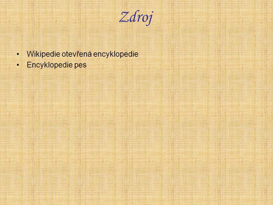 Zdroj Wikipedie otevřená encyklopedie Encyklopedie pes