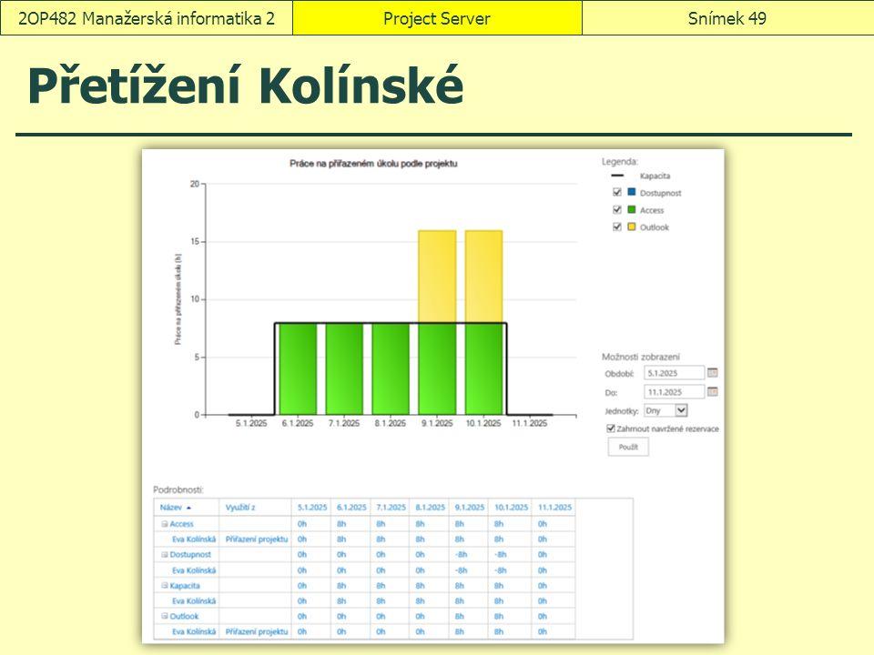 Přetížení Kolínské Project ServerSnímek 492OP482 Manažerská informatika 2