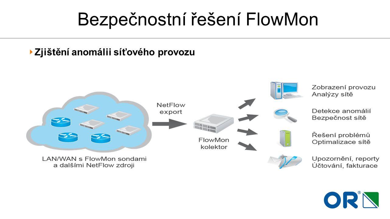 Bezpečnostní řešení FlowMon Zjištění anomálii síťového provozu