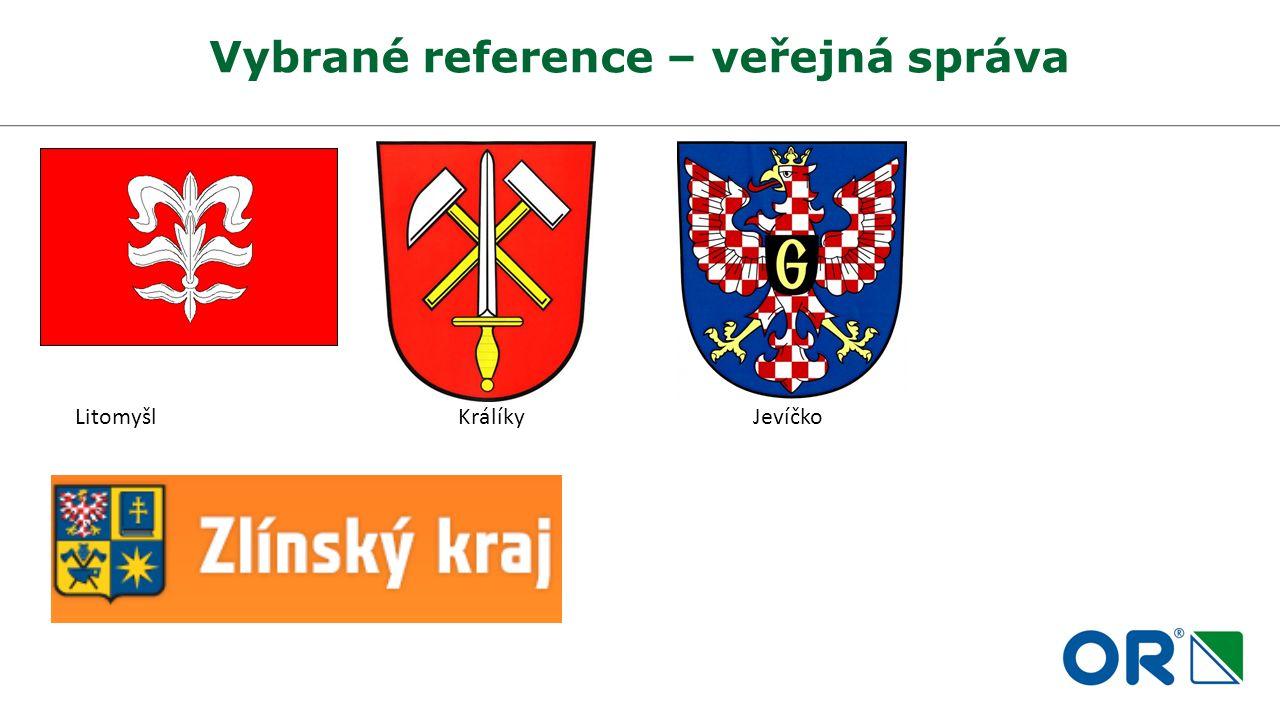 Vybrané reference – veřejná správa Litomyšl Králíky Jevíčko