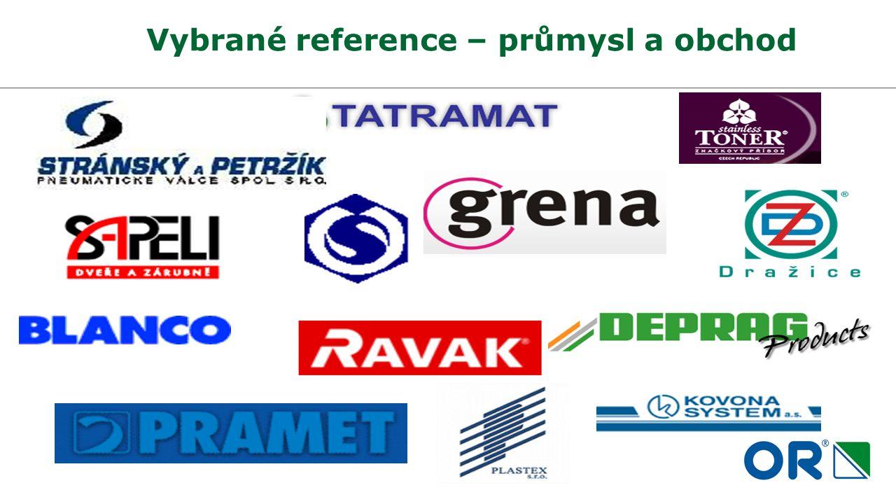 Vybrané reference – průmysl a obchod