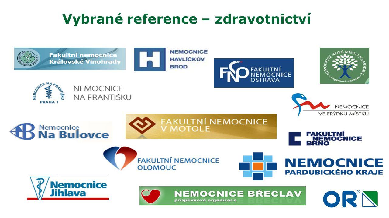 Vybrané reference – zdravotnictví