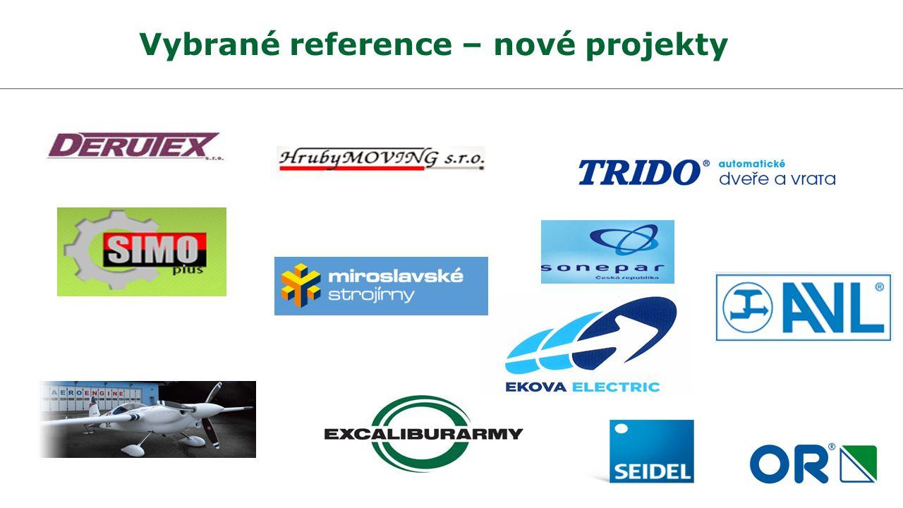 Vybrané reference – nové projekty