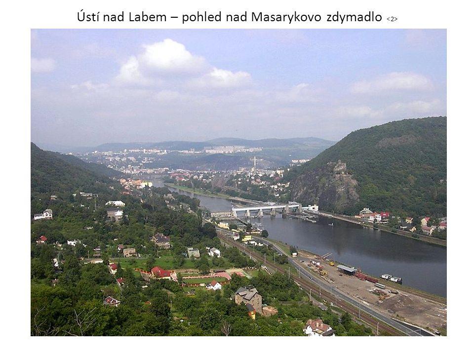 Ústí nad Labem – pohled nad Masarykovo zdymadlo