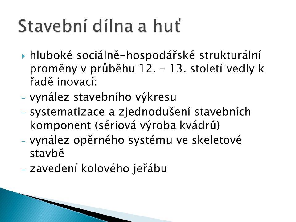  hluboké sociálně-hospodářské strukturální proměny v průběhu 12.