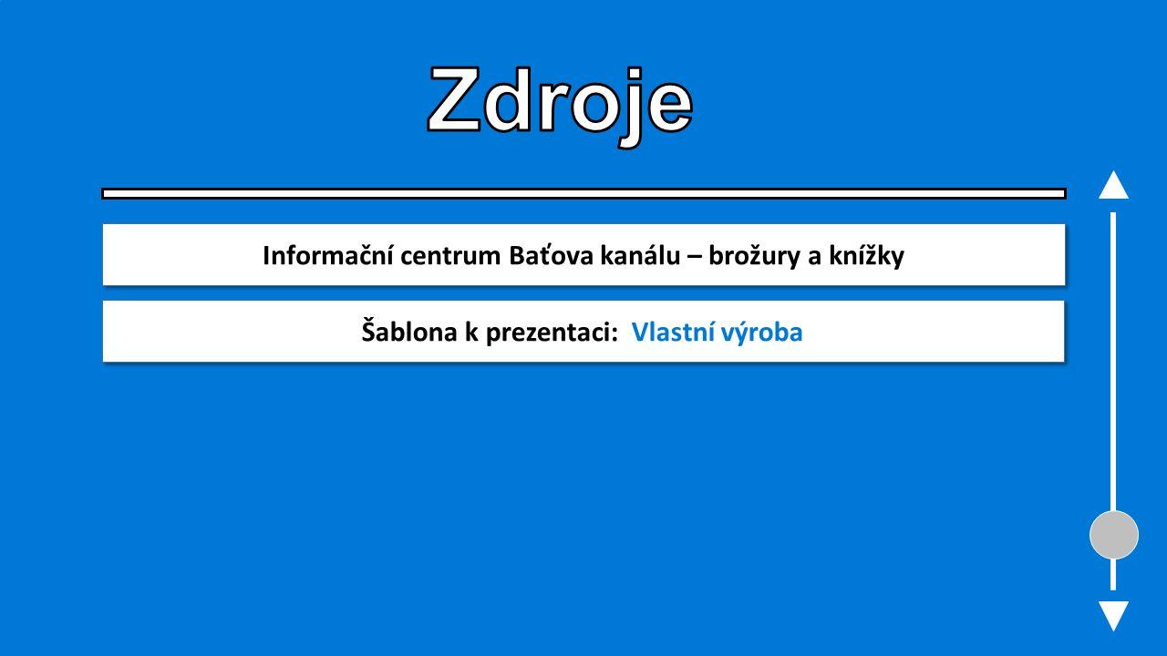 Informační centrum Baťova kanálu – brožury a knížky Šablona k prezentaci: Vlastní výroba