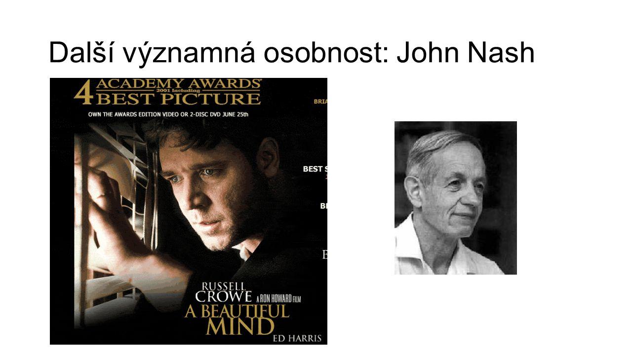 Další významná osobnost: John Nash