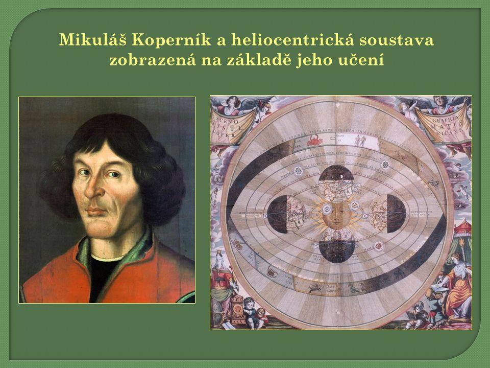 Mikuláš Koperník a heliocentrická soustava zobrazená na základě jeho učení
