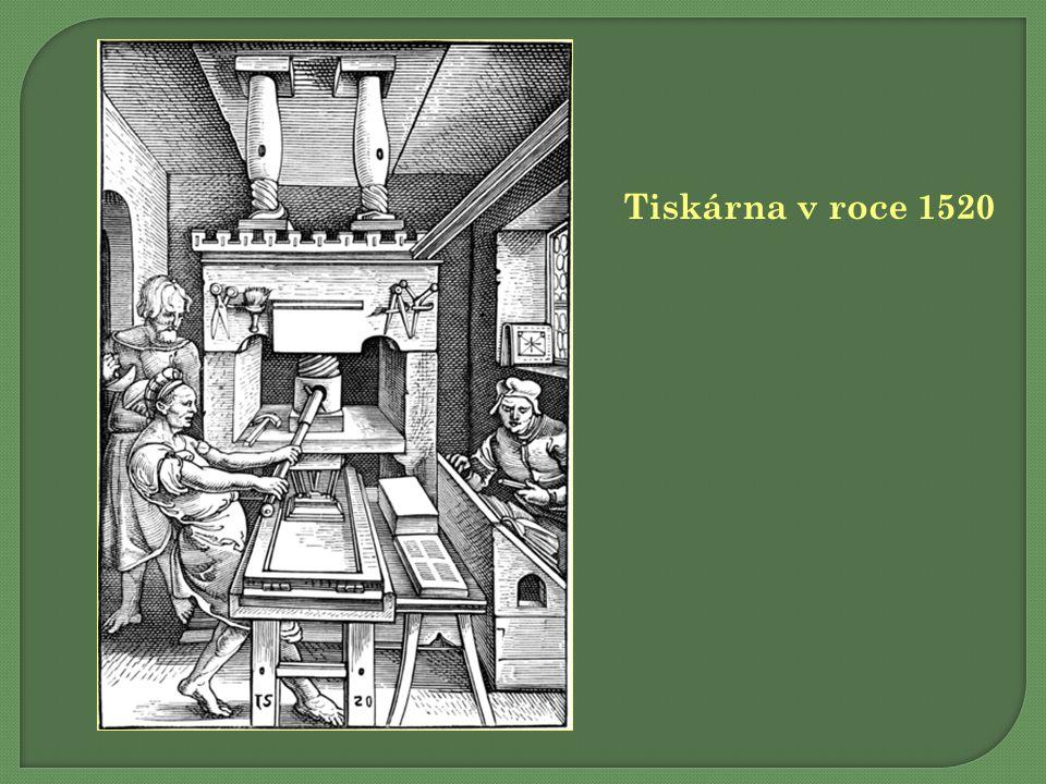 Tiskárna v roce 1520