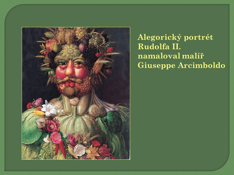 Alegorický portrét Rudolfa II. namaloval malíř Giuseppe Arcimboldo
