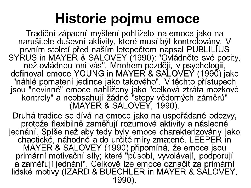 FYZIOLOGICKÉ TEORIE EMOCÍ W.B.CANNON (1929), P.