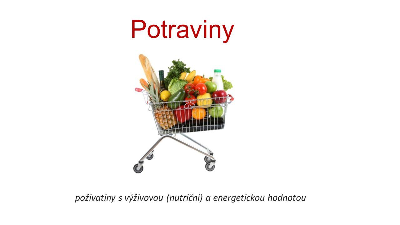 Potraviny poživatiny s výživovou (nutriční) a energetickou hodnotou