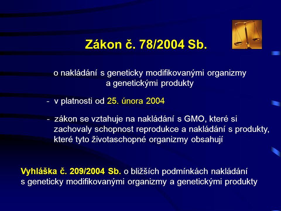 Zákon č. 78/2004 Sb.