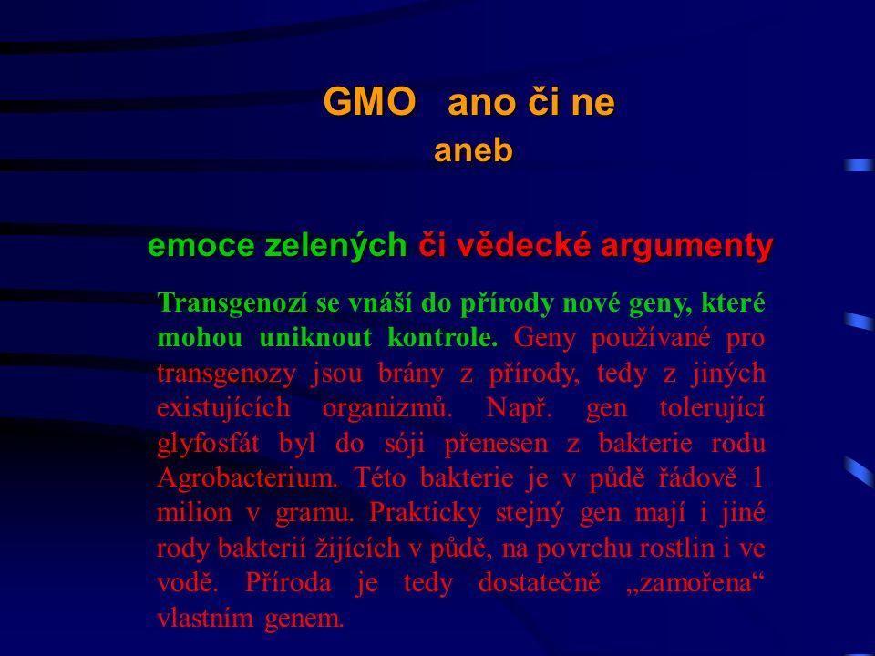 Transgenozí se vnáší do přírody nové geny, které mohou uniknout kontrole.