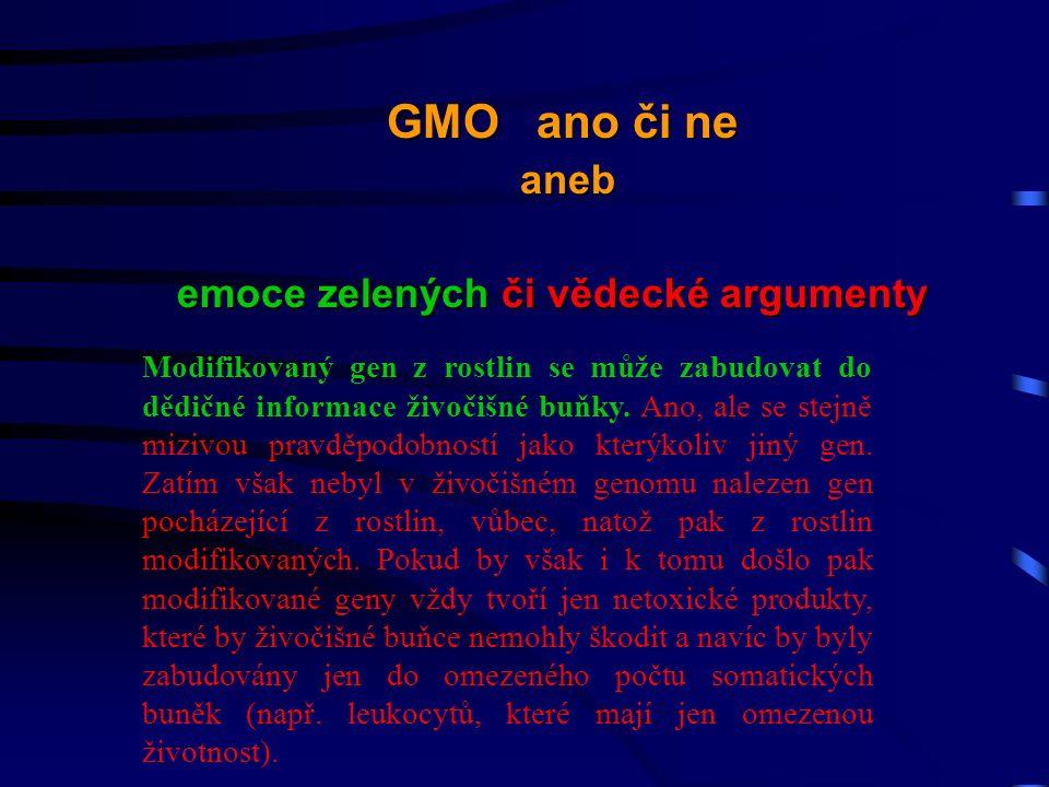 Modifikovaný gen z rostlin se může zabudovat do dědičné informace živočišné buňky.