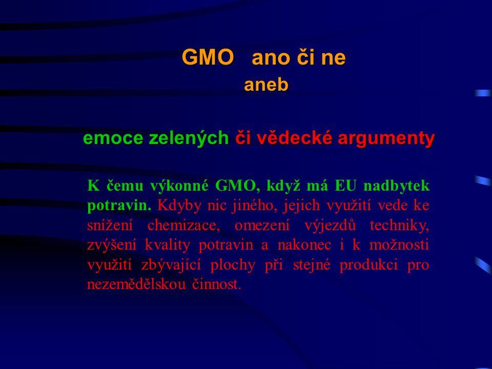 K čemu výkonné GMO, když má EU nadbytek potravin.