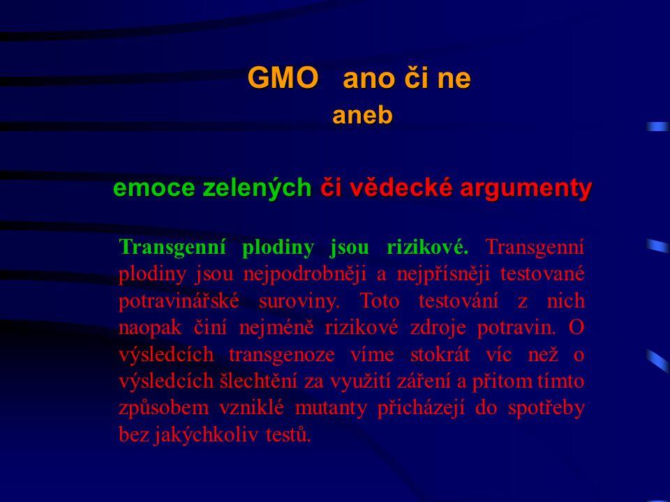 Transgenní plodiny jsou rizikové.