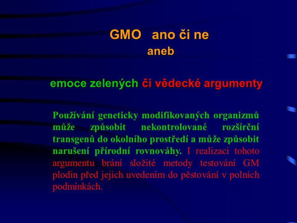 Používání geneticky modifikovaných organizmů může způsobit nekontrolované rozšírční transgenů do okolního prostředí a může způsobit narušení přírodní rovnováhy.