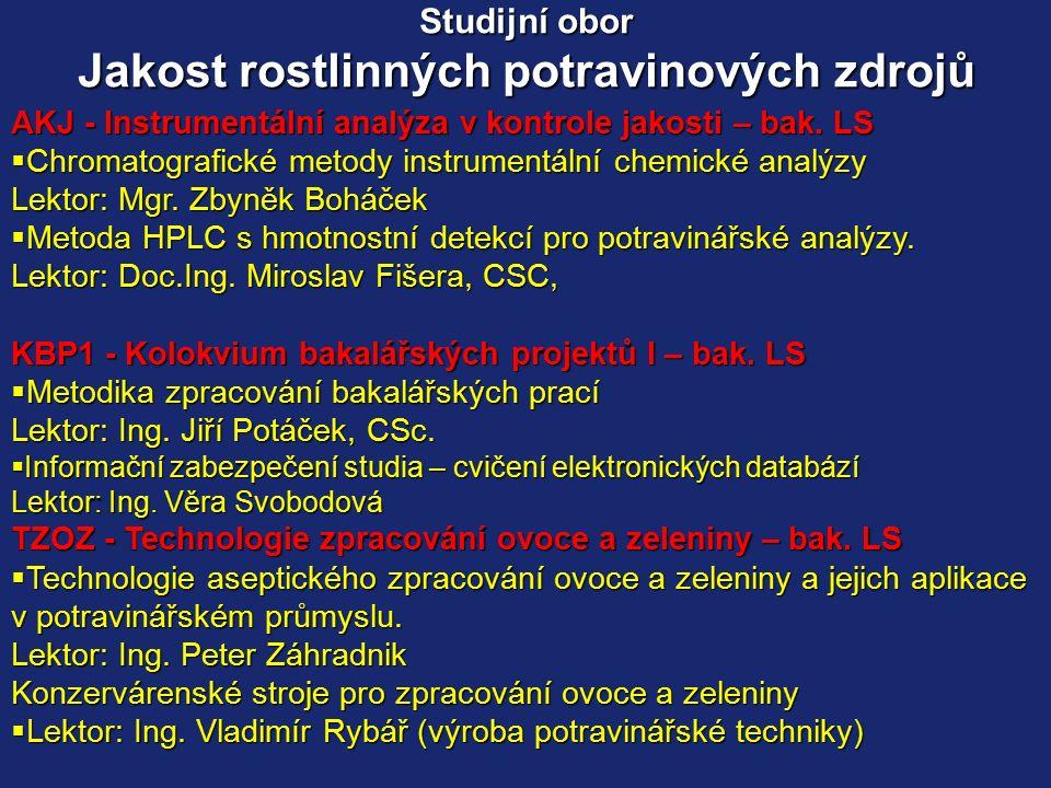 SRJ - Systémy řízení jakosti – mag.