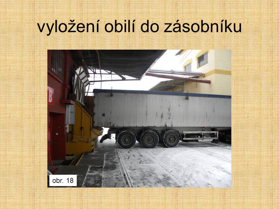 vyložení obilí do zásobníku obr. 18